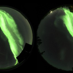 3D side-by-side video of aurora