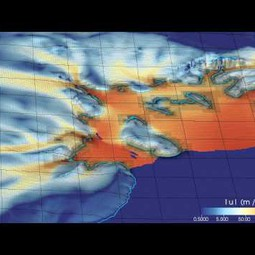 Simulation of glacier retreat in the Filchner-Ronne ice shelf over three centuries (video)