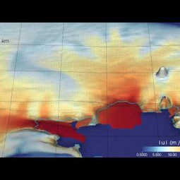 Simulation of the Amundsen Sea Embayment over three centuries of sustained retreat (video)
