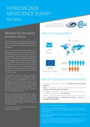 Horizon 2020 Geoscience Survey Report: 2-pager