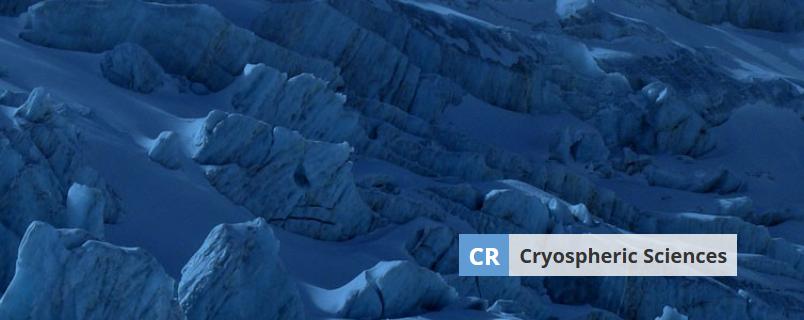 Banner image of Cryospheric Sciences