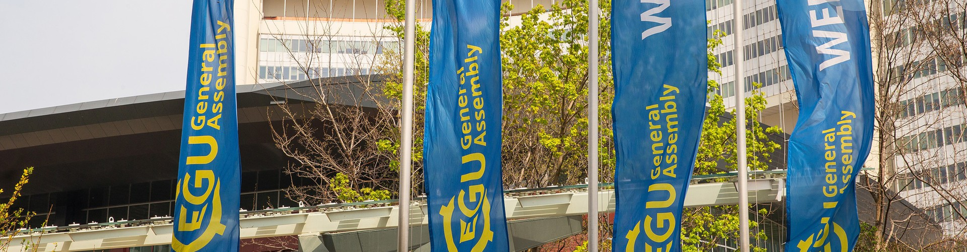 EGU General Assembly flags waving outside the Austria Center Vienna