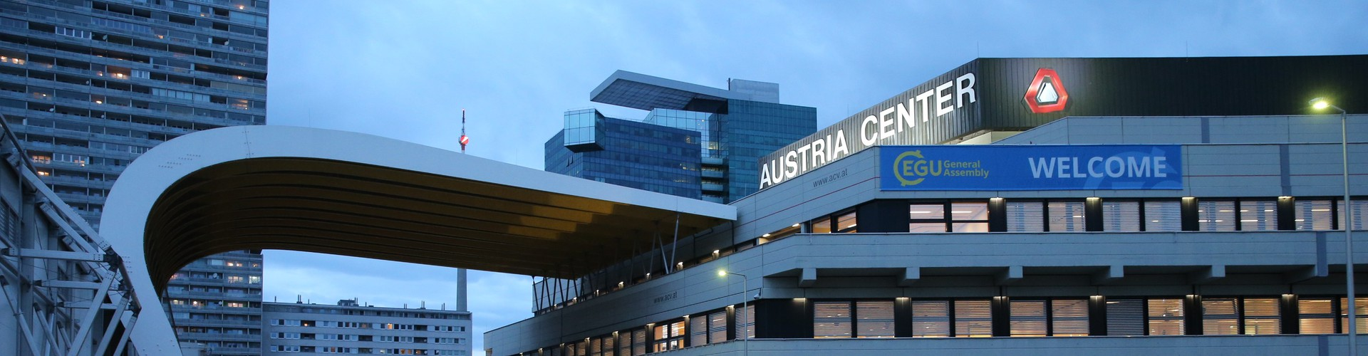 The Austria Center Vienna, site of the  European Geosciences Union's annual General Assembly