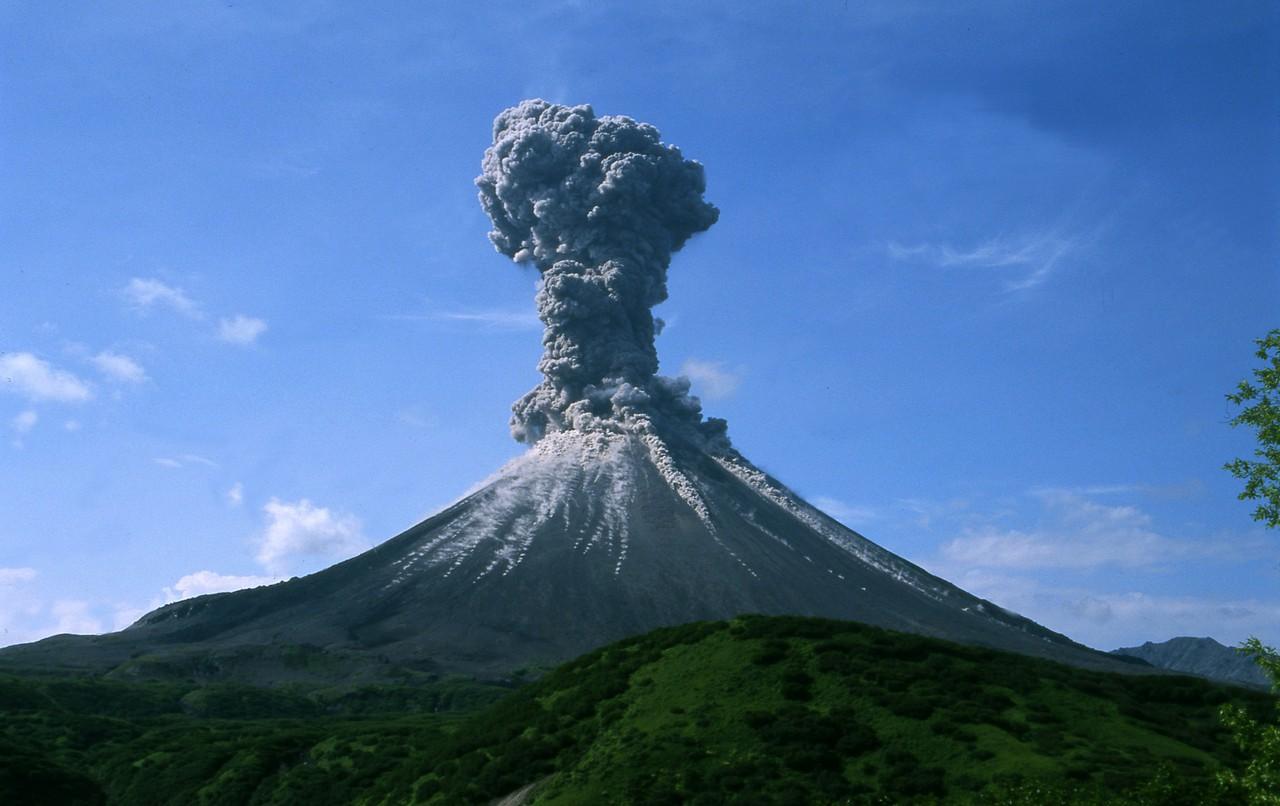 Karymsky volcano, 2004 (Credit: Alexander Belousov, distributed via imaggeo.egu.eu)