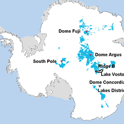 Potential oldest ice study areas