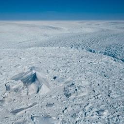 Iceberg in front of Jakobshavn Isbræ calving front
