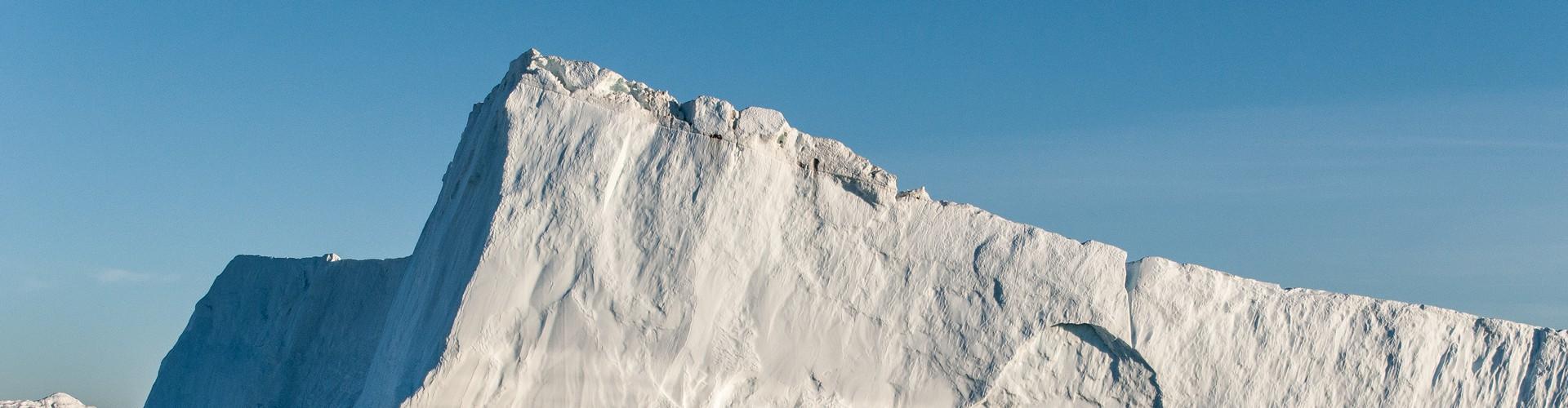Iceberg from Jakobshavn Isbræ, Disko Bay (Credit: Ian Joughin, PSC/APL/UW)
