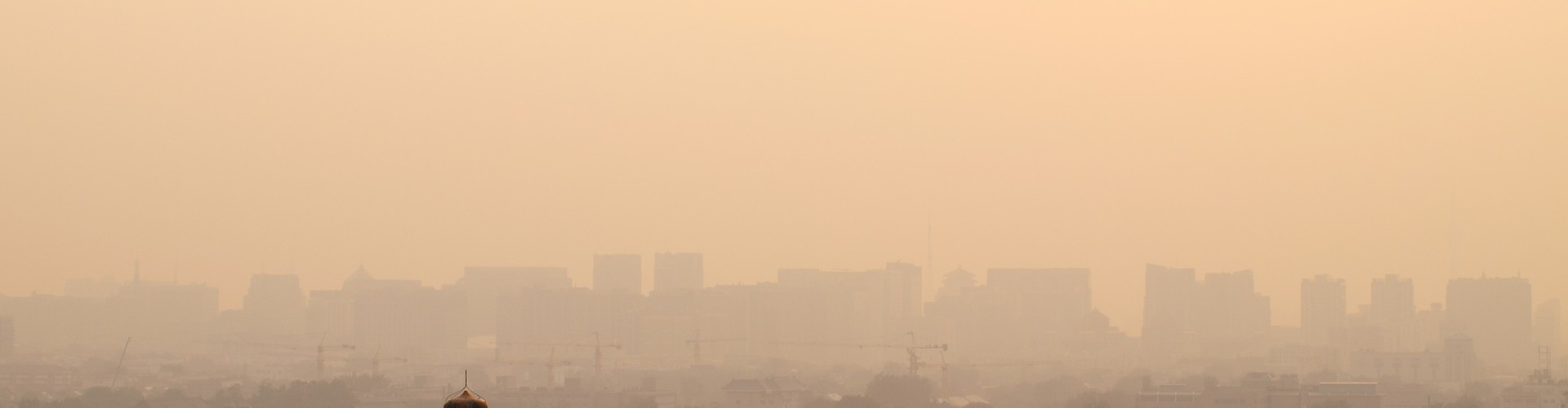 Hazy sunset over Beijing, one of the world's most polluted cities. (Credit: Michelle Cain, distributed via imaggeo.egu.eu)
