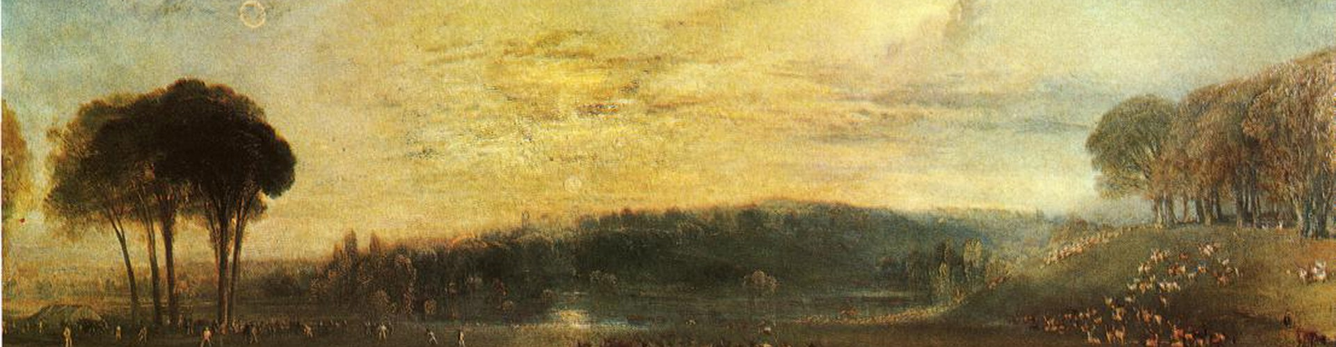 Researchers used images of old paintings, such as this one painted by the British artist J. M. W. Turner in 1829, to study the Earth's past atmosphere