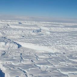 Crevassed Thwaites ice