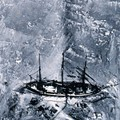 One of the first aerial photographs of the Antarctic, this picture was obtained from a balloon in 1901. It shows the ship of German explorer Erich von Drygalski's, the log books of which were used in the study.
