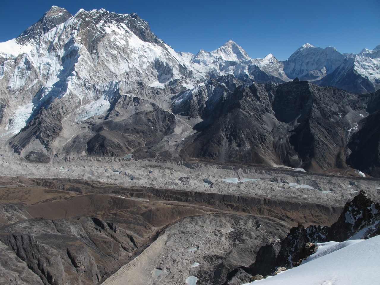 Everest and Khumbu glacier in the Dudh Koshi basin (Credit: Patrick Wagnon)