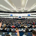 A voting session in the European Parliament