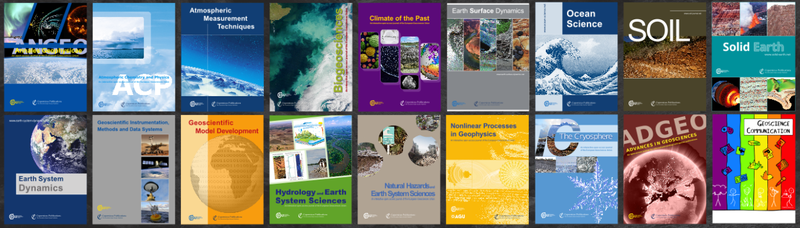 EGU open access journals as of March 2019. A new publication, Geochronology, launched this week.