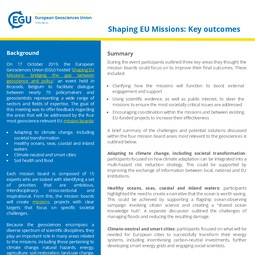 Shaping the EU Missions Report