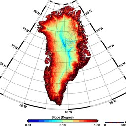 Greenland's surface slopes