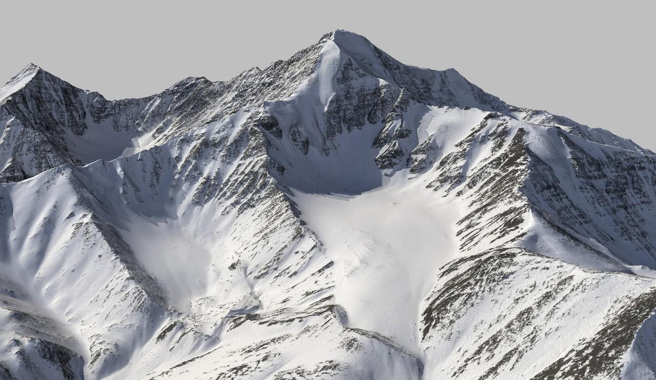 3D visualisation of Mt Chamberlin based on fodar data (Credit: Fairbanks Fodar)