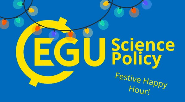 Science policy holiday happy hour banner