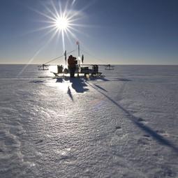 BAS radar sledge on the Larsen Ice Shelf