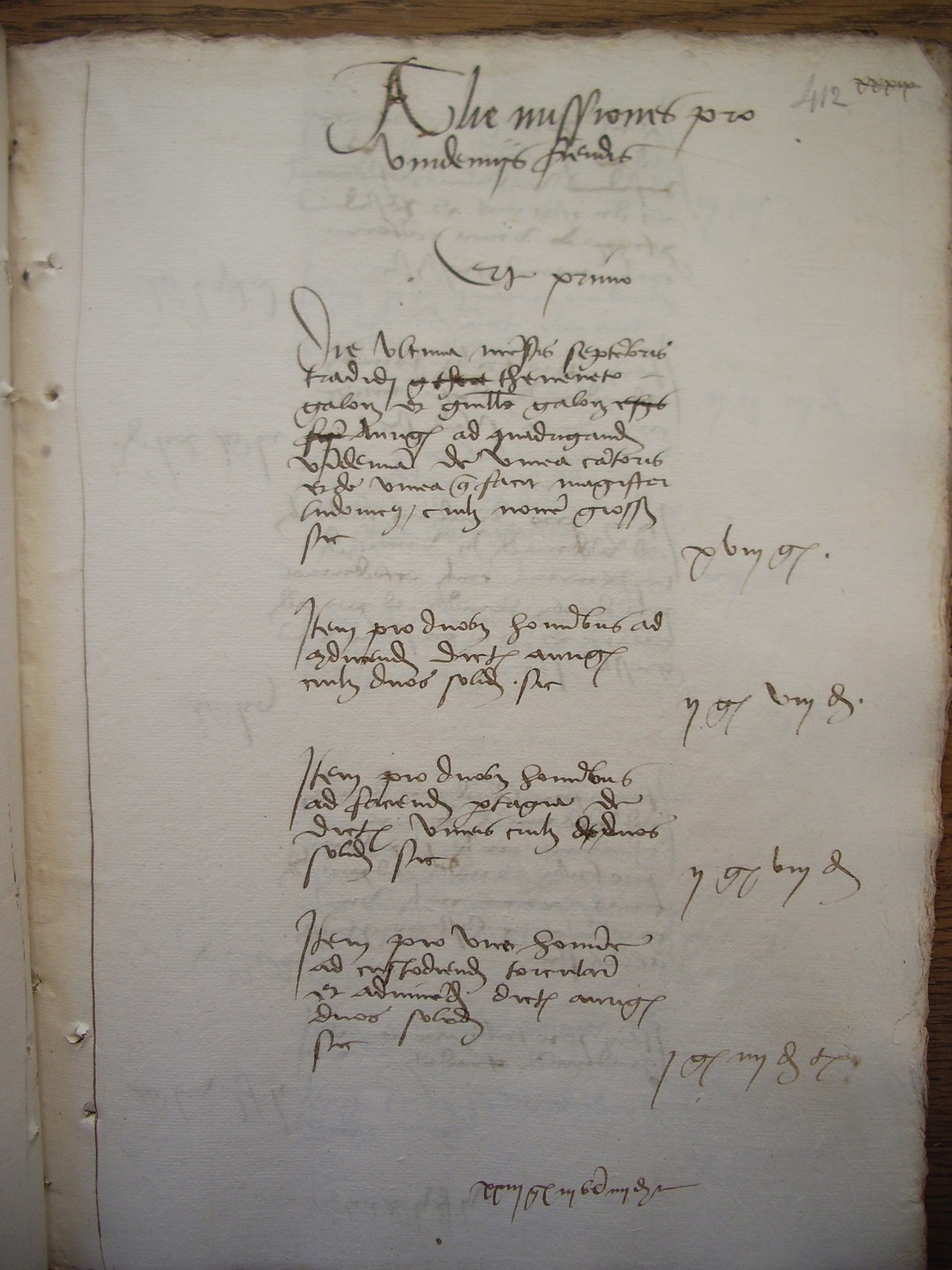Page from the accounting books of the church of Notre-Dame of Beaune (1505) (Credit: Archives Départementales de la Côte d'Or, 2918/126, Thomas Labbé)