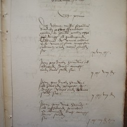 Page from the accounting books of the church of Notre-Dame of Beaune (1505)