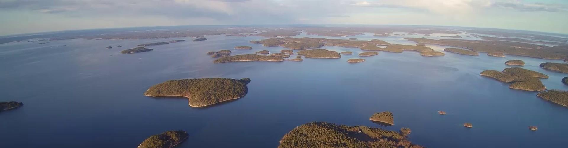 Archipelago Sea from a drone