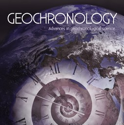 Cover of the new Geochronology journal