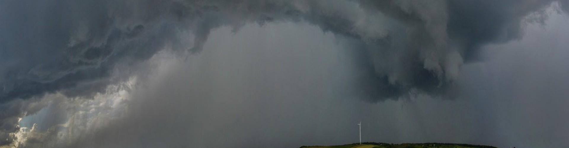 Storm in the Weinviertel, Lower Austria (Credit: Peter Huber, distributed via imaggeo.egu.eu)