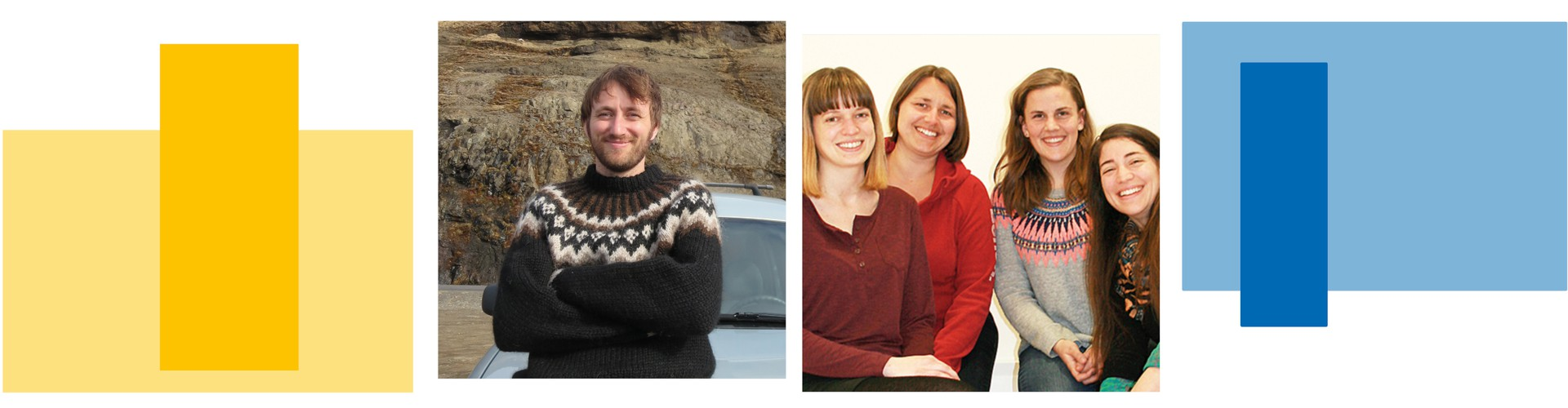 Winners of the EGU Public Engagement Grants 2019; Philip Heron (left) and Romana Hödl, Katrin Attermeyer, Laura E. Coulson, Astrid Harjung (right)