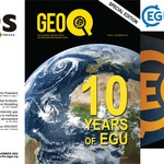 Covers of the EGU newsletter over the years