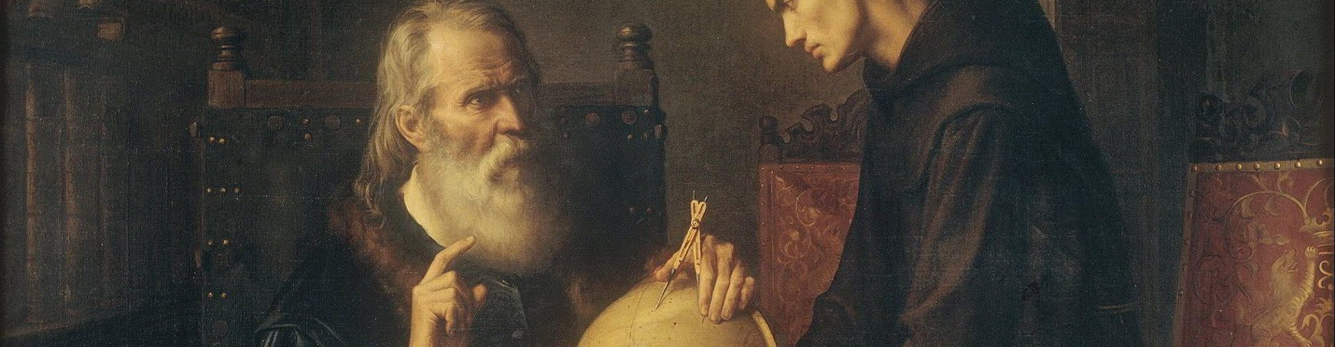 Galileo demonstrating the new astronomical theories at the University of Padua