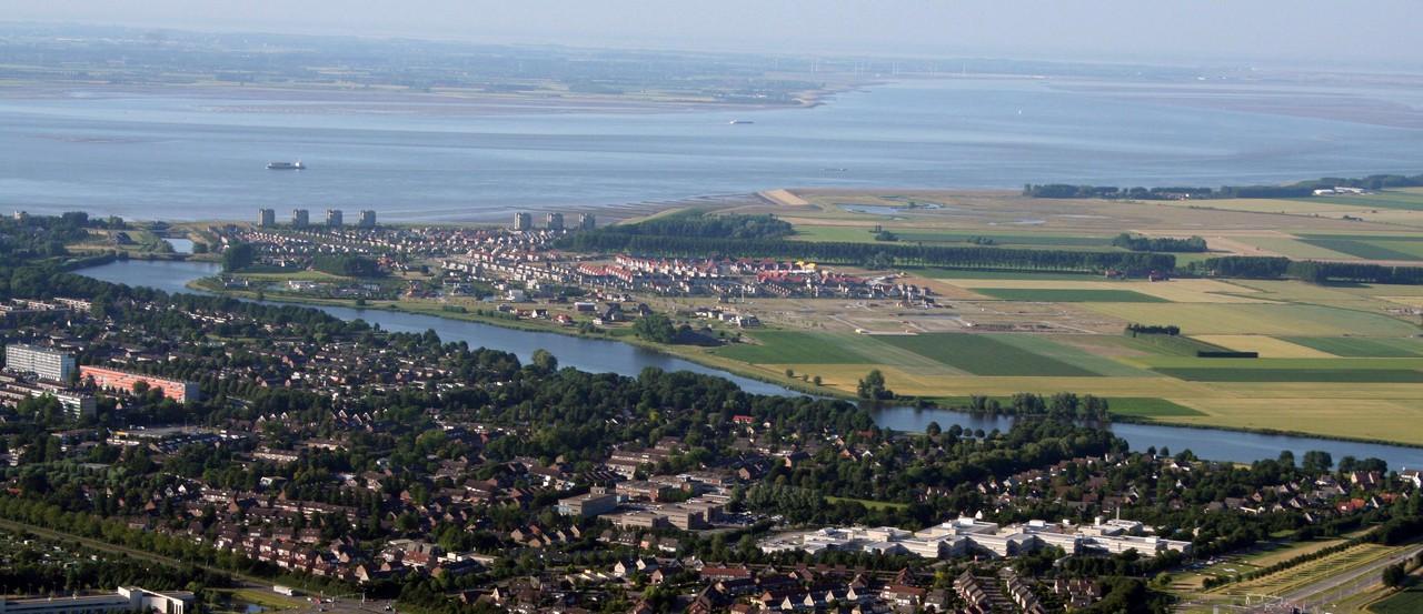 Aerial photograph of Terneuzen, southwestern Netherlands (Credit: A. de Kraker)