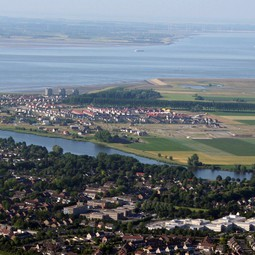 Aerial photograph of Terneuzen, southwestern Netherlands