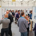 Participants discussing science during one of the EGU 2017 General Assembly poster sessions