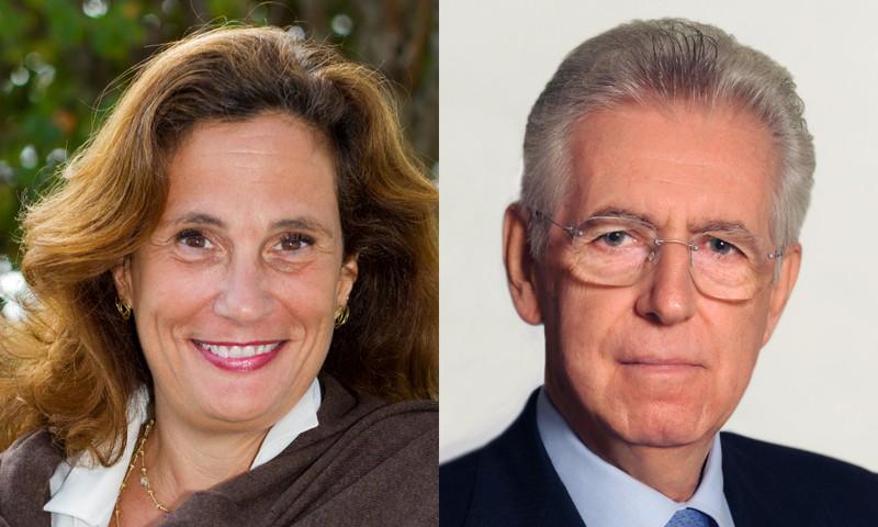 Ilaria Capua and Mario Monti