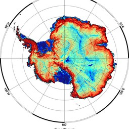 Antarctica's surface slopes