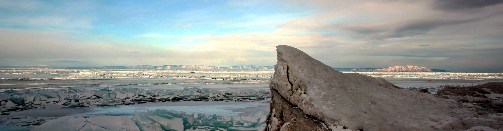 Even in the warmer decades of the present, some lakes – such as Lake Baikal in Russia – can freeze over in winter (Credit: Dmitry Vlasov, via imaggeo.egu.eu)