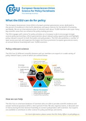 Factsheet: What the EGU can do for policy