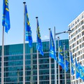 Flags outside the ACV during the EGU General Assembly