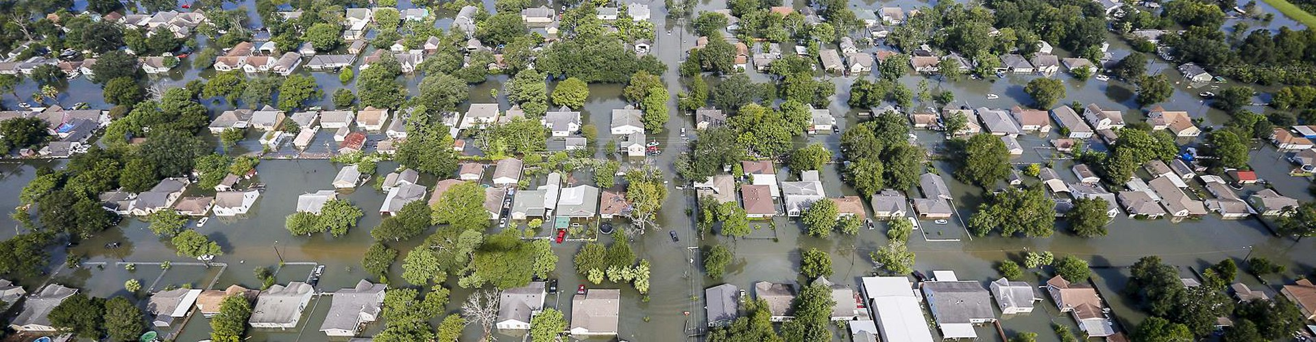 Aerial view showing flooding from Harvey in a residential area in Southeast Texas, Aug. 31, 2017 (Credit: Air National Guard photo by Staff Sgt. Daniel J. Martinez)