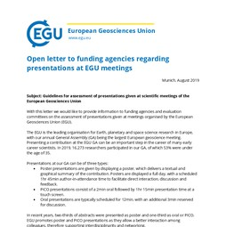 Open letter on EGU presentations