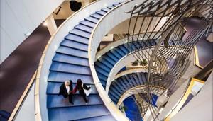 EU Parliament staircase