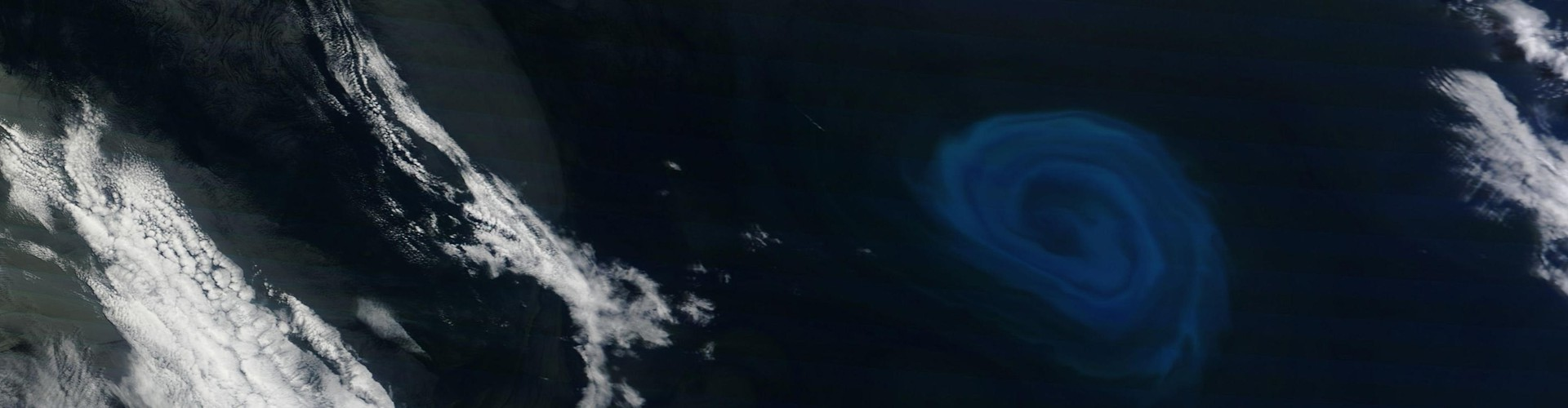 Example of an ocean eddy (not from the study) as seen from space (Credit: NASA Earth Observatory)