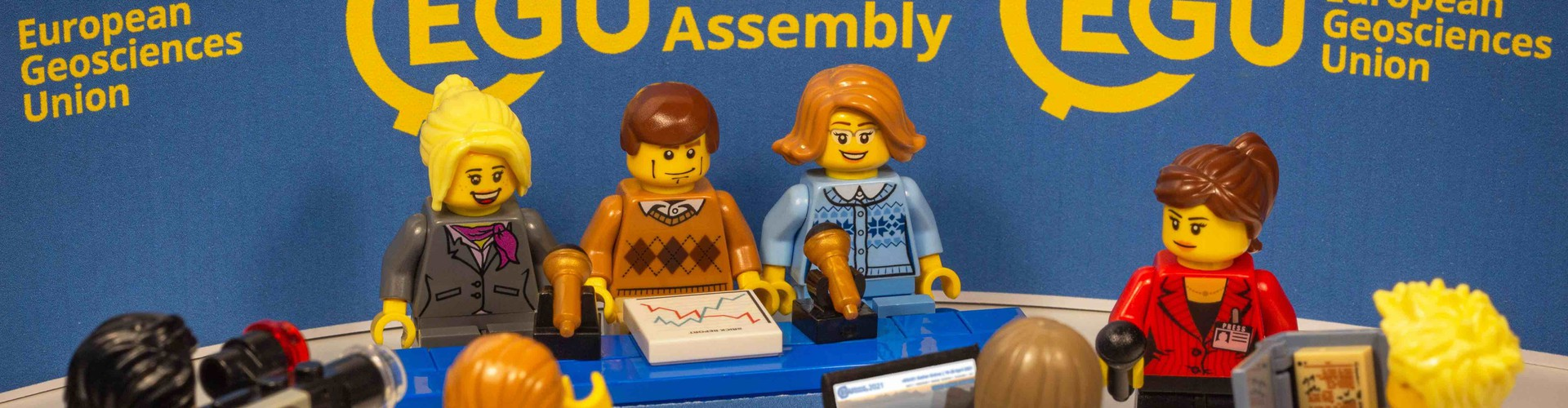 Press conference Lego image (Credit: Stacy Phillips, vEGU21 Artist in Residence @Shtacy_Phillips)