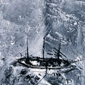 Aerial view of the Gauss (Erich von Drygalski's ship) in the ice during the 1901 German Antarctic Expedition