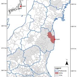 Map of Fukushima prefecture