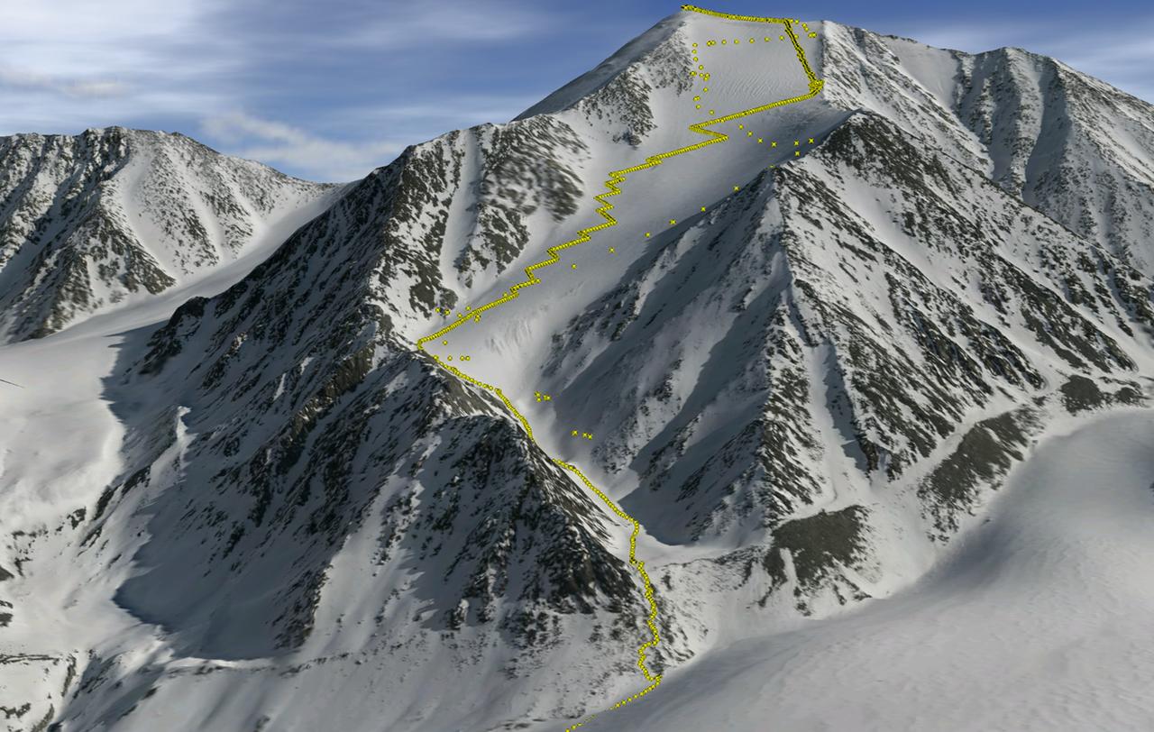 3D visualisation of Mt Isto based on fodar data (Credit: Nolan & DesLauriers, The Cryosphere, 2016/Fairbanks Fodar)