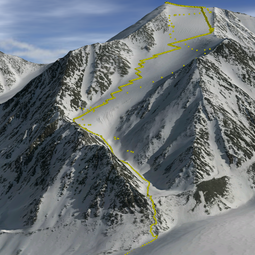 3D visualisation of Mt Isto based on fodar data