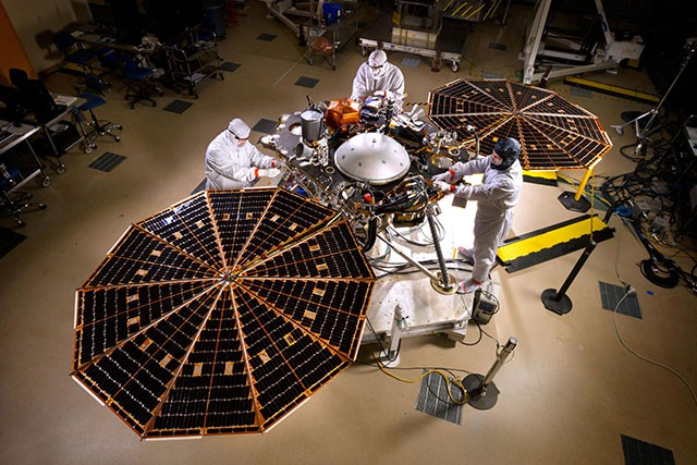 NASA's InSight lander (Credit: NASA/JPL-Caltech/Lockheed Martin Space)