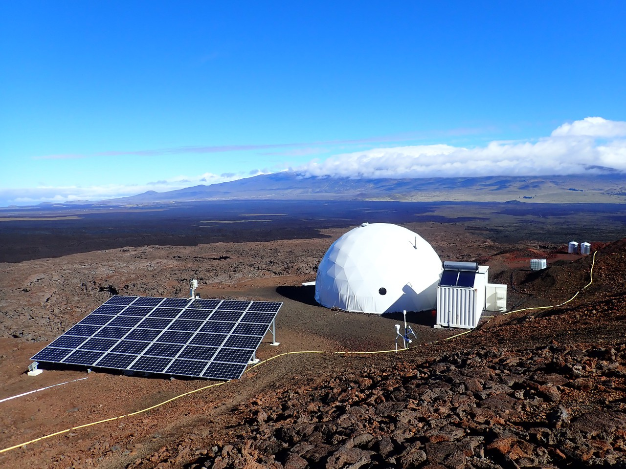 Crewmembers spend days to months in the HI-SEAS Mars/moon habitat atop Mauna Loa. (Credit: HI-SEAS)